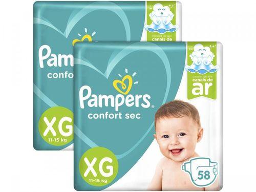 Fralda Pampers Confort Sec Tam. XG - 11 a 15kg 116 Unidades