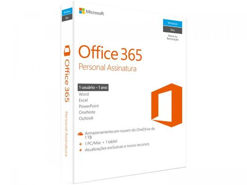 Pacote Office 365 Personal 1 Ano Digital - Microsoft