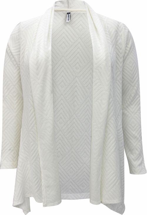 Cardigan Pau a Pique Tricot Off White