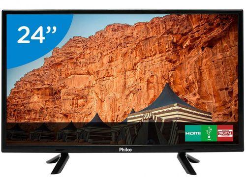 "TV LED 24"" Philco PTV24C10D Conversor Digital - 2 HDMI USB"