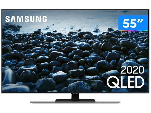 """Smart TV 4K QLED 55"""" Samsung QN55Q80TAGXZ - Wi-Fi Bluetooth HDR 4 HDMI 2 USB"""