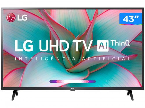 "Smart TV 4K LED IPS 43"" LG 43UN7300PSC Wi-Fi - Bluetooth Inteligência Artificial 3 HDMI 2 USB"