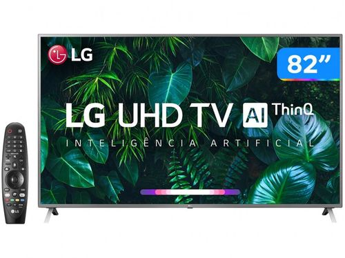 "Smart TV 4K LED 82"" LG 82UN8000PSB Wi-Fi Bluetooth - HDR Inteligência Artificial 4 HDMI 3 USB"