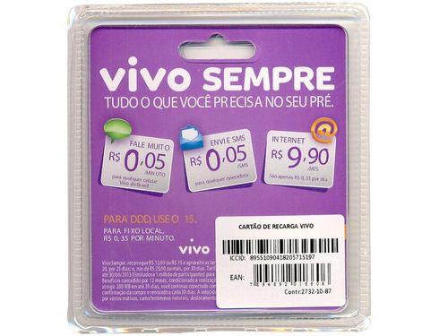 Kit Chip Vivo com Recarga R$15,00 - para Todos os DDDs
