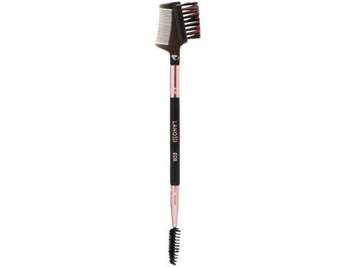 Pincel de Maquiagem para Sobrancelha e Cílios - Lanossi Rose Black Sobrancelha E08