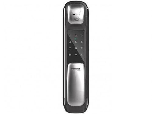 Fechadura Digital Intelbras Push & Pull FR 630 - Com Senha Biometria Tag Interna de Embutir