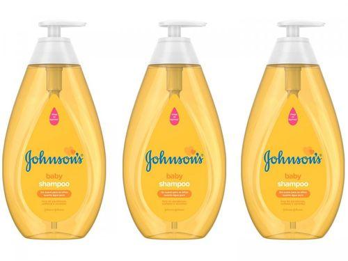 Kit Shampoo Infantil Johnsons Baby Regular - 750ml 3 Unidades