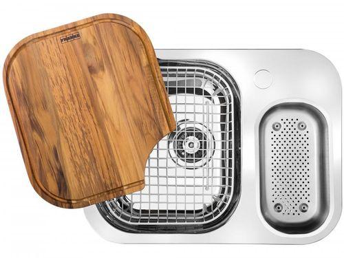 Cuba para Cozinha Franke Dupla Aço Inox de Embutir - Retangular 62,5x50cm Prática Quinline