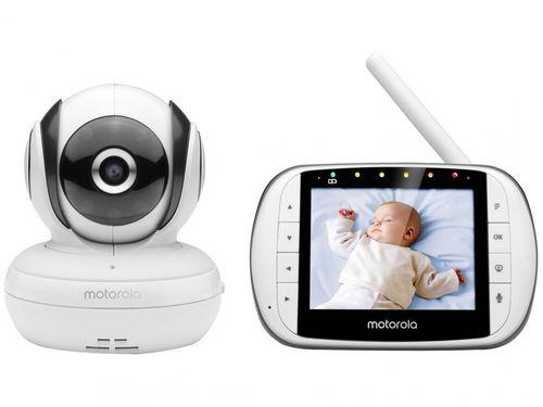 Babá Eletrônica Motorola MBP36SC com Câmera - Visão Noturna Wi-Fi Alcance até 200m