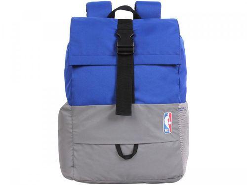 Mochila Juvenil Escolar Masculina Tam. G DMW - Sports NBA Azul e Cinza