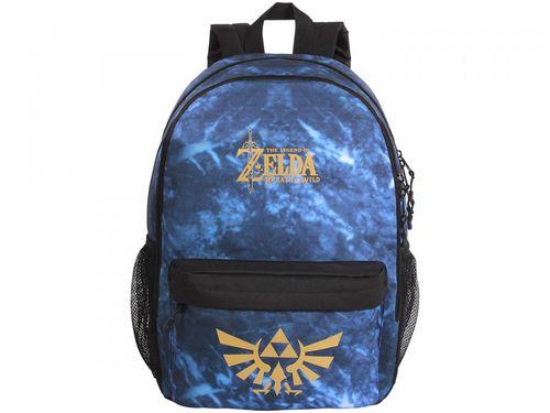 Mochila Juvenil Escolar Masculina Tam. G DMW Geek - Nintendo Legend Of Zelda Azul e Preta