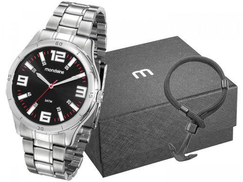 Relógio Masculino Mondaine Analógico - 99059G0MVNE1K1 Prata com Acessório