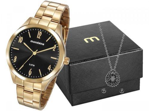 Relógio Feminino Mondaine Analógico - 76726LPMVDE2K1 Dourado com Acessório