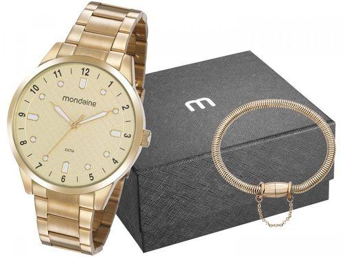 Relógio Masculino Mondaine Analógico - 32140GPMVDE2K1 Dourado com Acessório
