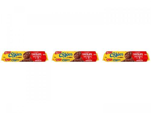 Kit Cookies Chocolate Bauducco 100g 3 Unidades -