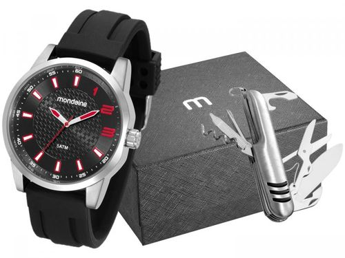 Relógio Masculino Mondaine Analógico - 53526G0MVNI1K1 Preto com Acessório