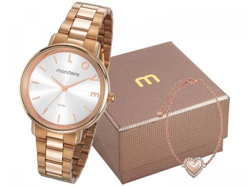 Relógio Feminino Mondaine Analógico - 53761LPMKRE2K1 Rosê Gold com Acessório