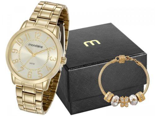 Relógio Feminino Mondaine Analógico - 83369LPMVDE1KZ Dourado com Acessório