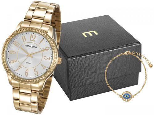 Relógio Feminino Mondaine Analógico - 99363LPMVDE1K1 Dourado com Acessório