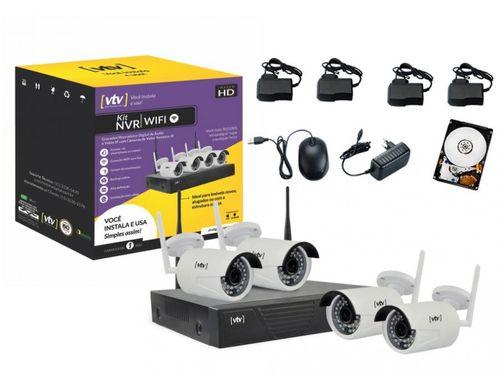 Kit NVR 4 Canais 4 Câmeras Infravermelho - 1080P VTV N628W