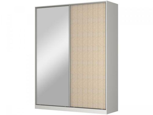 Guarda-roupa Solteiro com Espelho 2 Portas - de Correr 3 Gavetas Nova Mobile RC2003