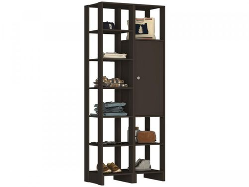 Closet Modulado 9 Prateleiras 1 Porta - Nova Mobile Yes EY104-107.058