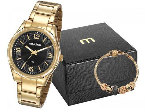 Relógio Feminino Mondaine Analógico - 53811LPMVDE2K1 Dourado com Acessório