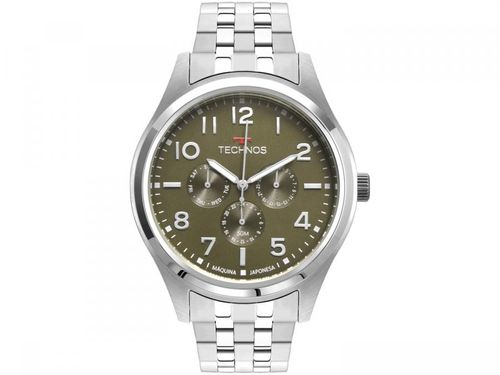 Relógio Masculino Technos Analógico Militar - 6P29AKJ/1V Prata