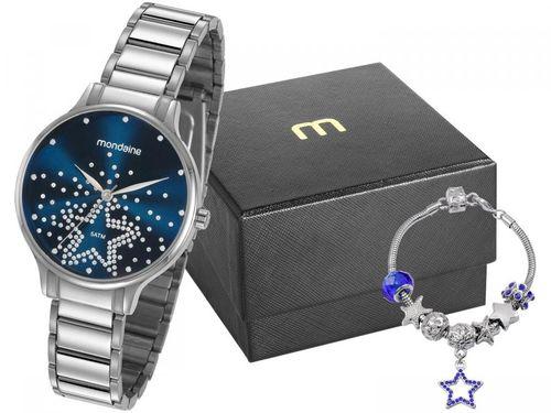 Relógio Feminino Mondaine Analógico - 53862L0MVNE1K1 Prata com Acessório