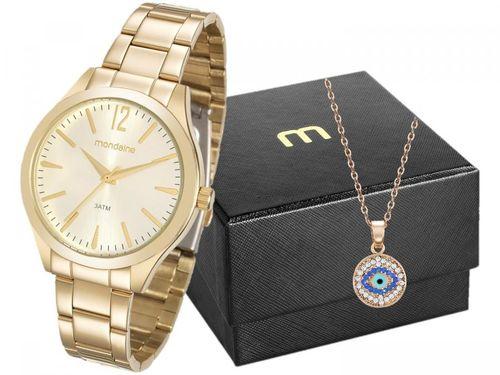 Relógio Feminino Mondaine Analógico - 99230LPMVDE1K2 Dourado com Acessório