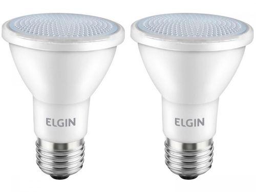 Kit Lâmpadas de LED 2 Unidades Branca E27 6W - 6500K Elgin PAR20