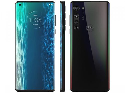 """Smartphone Motorola Edge 128GB Solar Black 6GB RAM - Tela 6,7"""" Câm. Quádrupla + Selfie 25MP Pré-venda"""