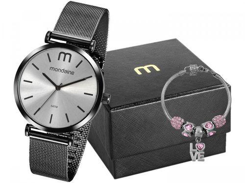 Relógio Feminino Mondaine Analógico - 53780LPMVPE3K2 Preto com Acessório