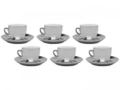 Jogo de Xícaras de Chá Porcelana 220ml Wolff Versa - 6 Peças