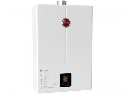 Aquecedor de Água a Gás GN Rheem Prestige - RB3AP30PVNTIC Controle Eletrônico Digital 30L/min