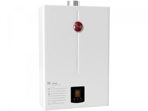 Aquecedor de Água a Gás GLP Rheem Prestige - RB3AP30PVPTIC Controle Eletrônico Digital 30L/min