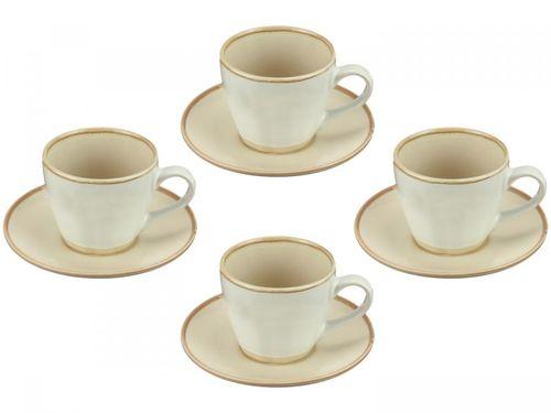 Jogo de Xícaras de Chá Porcelana 185ml Bon Gourmet - Good Vibes 4 Peças