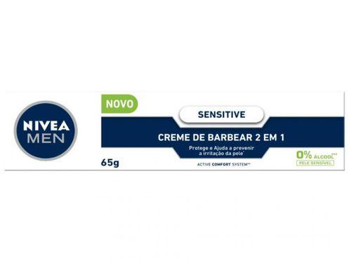 Creme de Barbear Nivea Sensitive - 65g