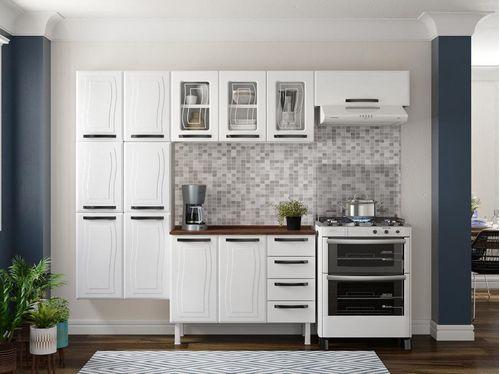 Cozinha Compacta Colormaq Barcelona 10 Portas - Aço