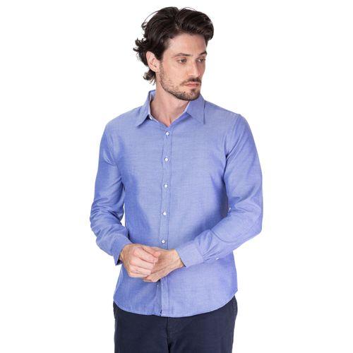 Camisa Oxford Manga Longa