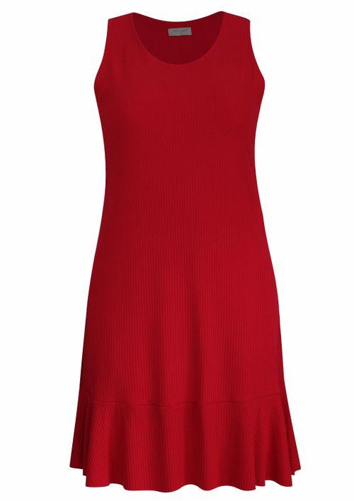 Vestido Pau a Pique Curto Básico Vermelho
