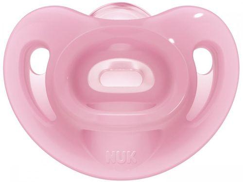 Chupeta Silicone Ortodôntico NUK Baby Care - Sensitive Soft Girl Rosa 0 a 6 Meses