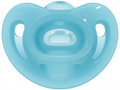Chupeta Silicone Ortodôntico NUK Baby Care - Sensitive Soft Boy Azul de 0 a 6 Meses
