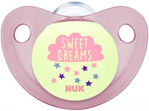 Chupeta Silicone Ortodôntico NUK Baby Care - Night & Day Girl 6 Meses