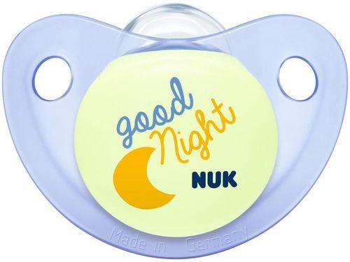 Chupeta Silicone Ortodôntico NUK Baby Care - Night & Day Boy Azul 6 meses