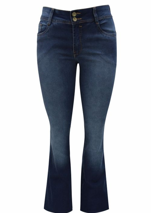Calça Pau a Pique Flare Jeans