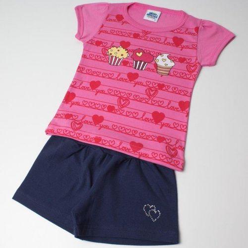Conjunto Pau a Pique Infantil Cup Cake Pink