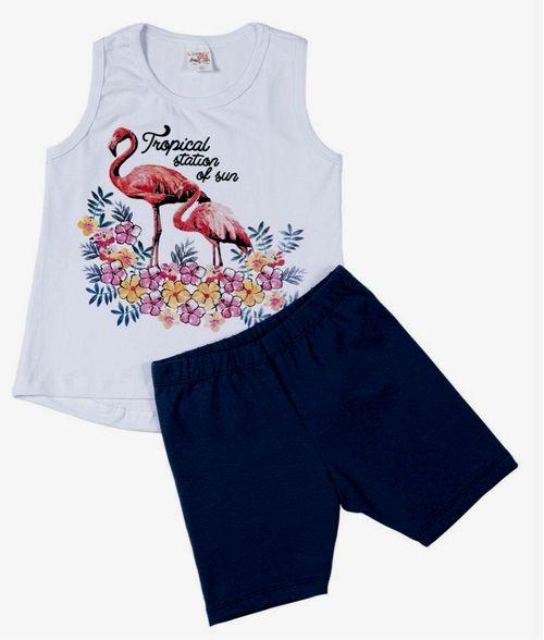 Conjunto Pau a Pique Infantil Flamingo Branco