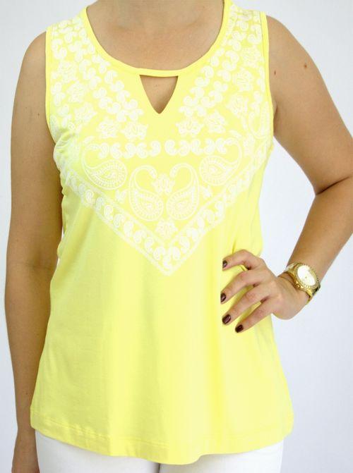 Regata Pau a Pique Silk Amarelo