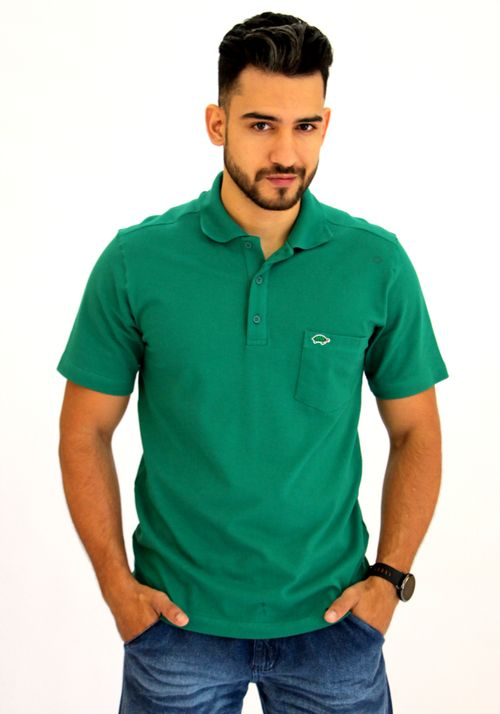 Camisa Pau a Pique Polo Piquet Verde Bandeira